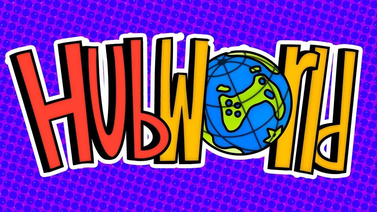 Hubworld 3D Platformer Title Logo