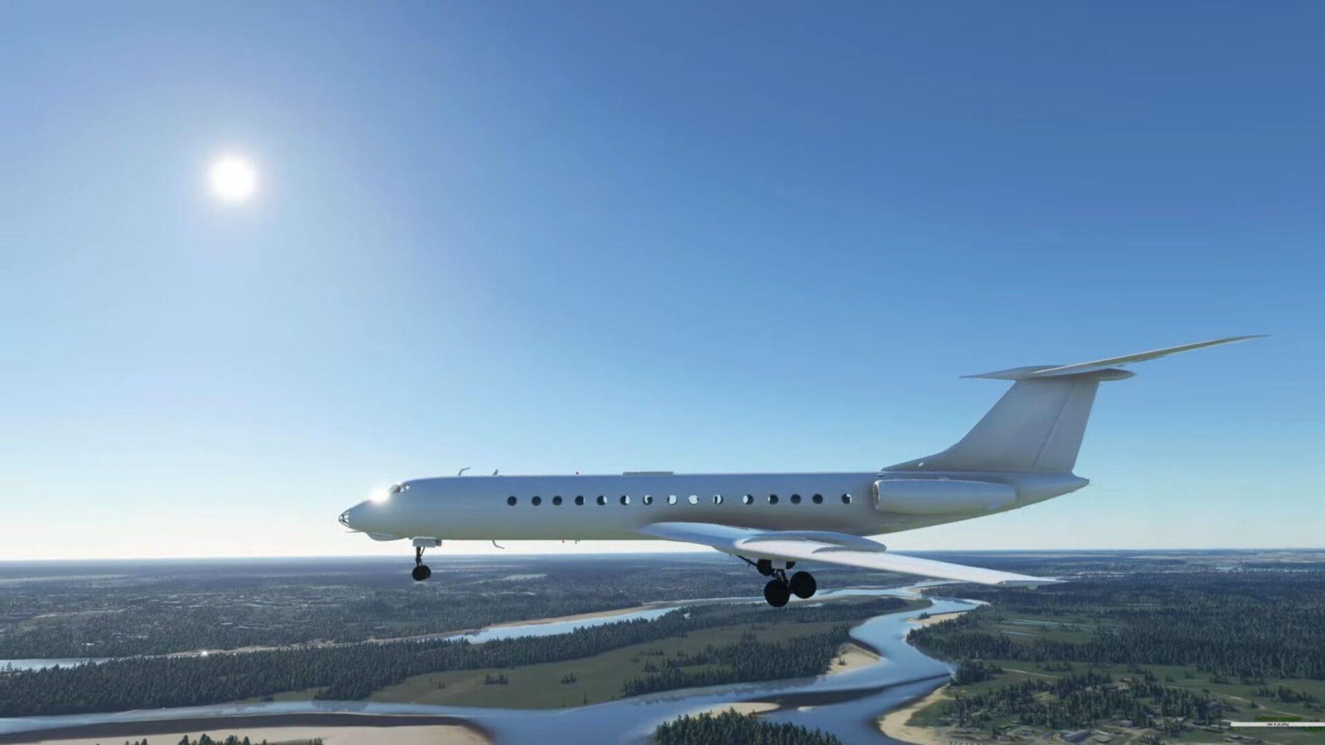 Microsoft Flight Simulator Tu 134