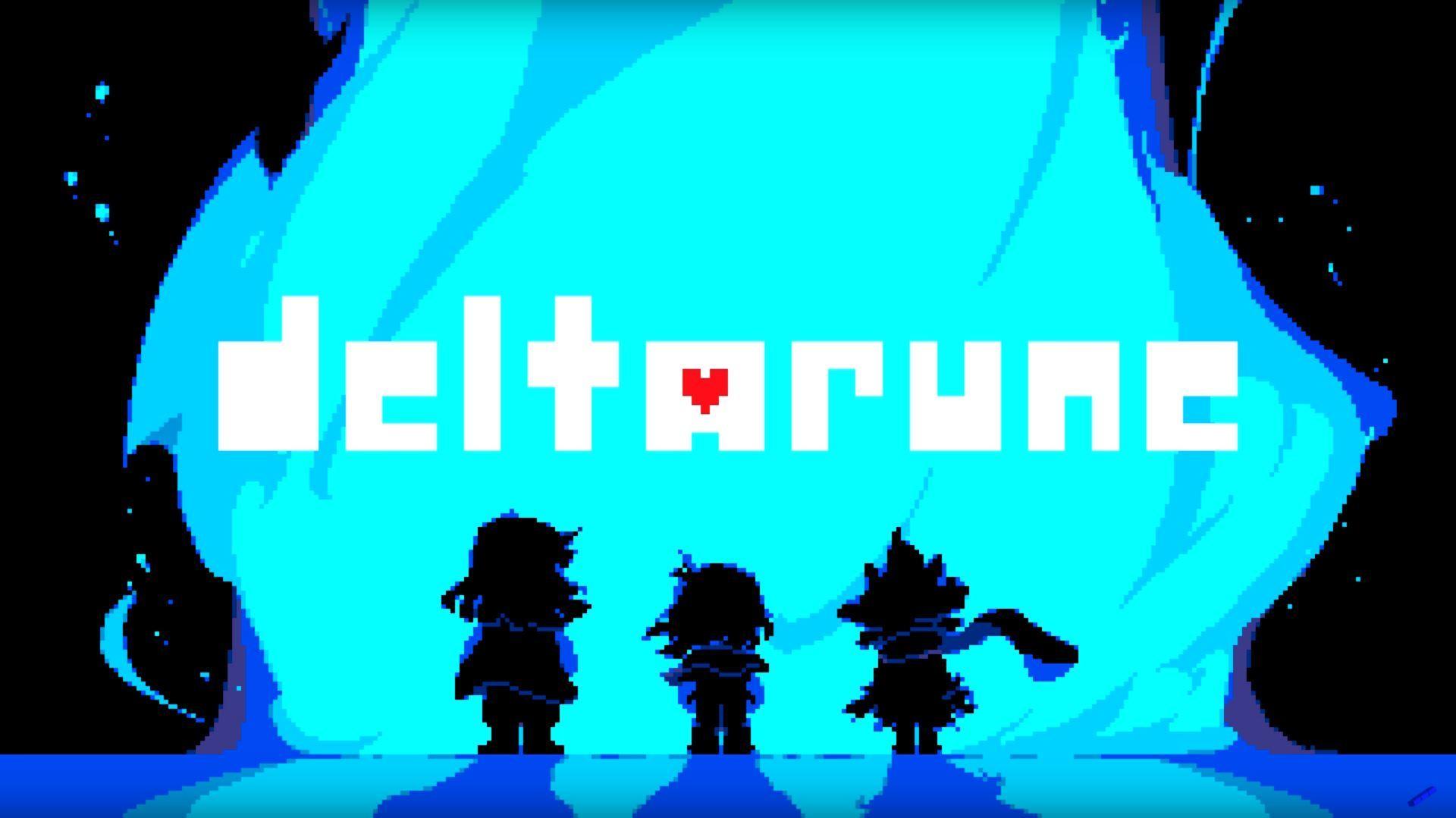 deltarune logo and header